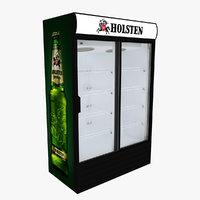 holsten fridge sliding doors 3D model