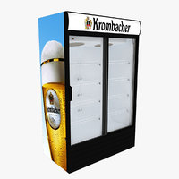 3D krombacher fridge sliding doors