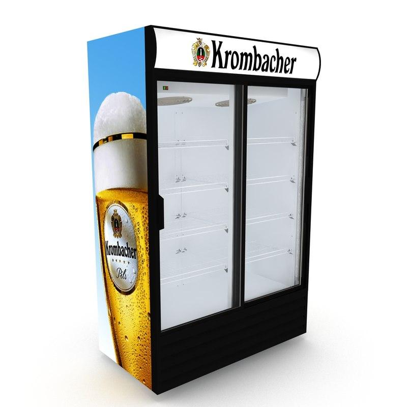 3D krombacher fridge sliding doors