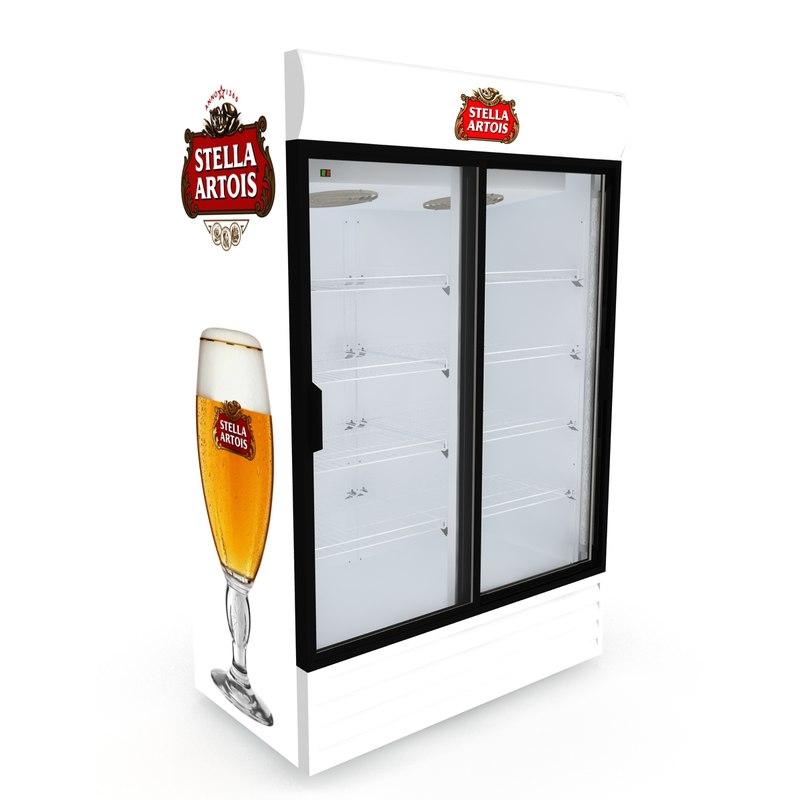 3D stella artois fridge sliding doors
