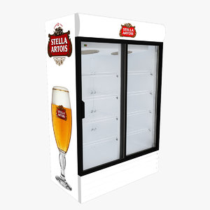 3D stella artois fridge sliding doors