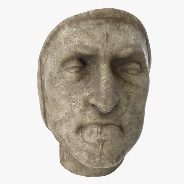 3D model dante death mask