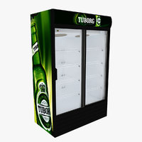 3D tuborg fridge sliding doors