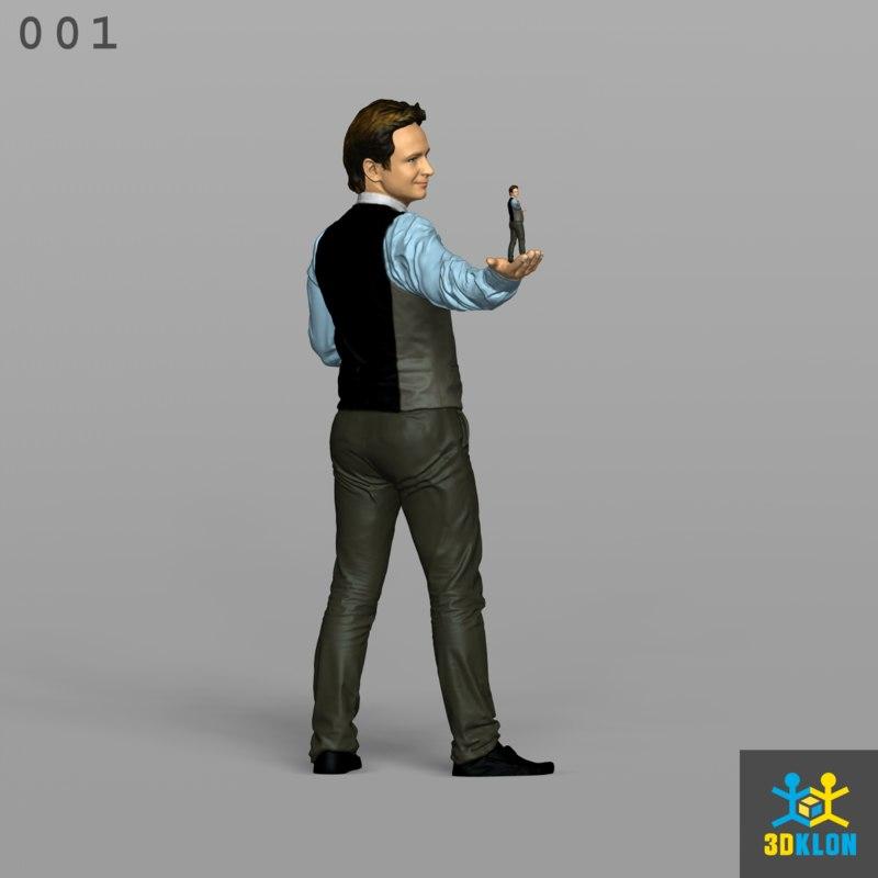 scan male vest 3D