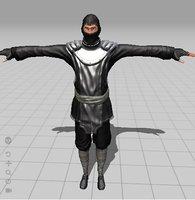 3D ninja rigged animate model