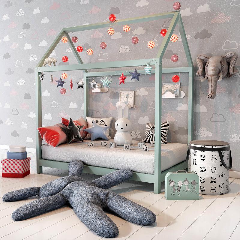 Children bedroom set 01 model - TurboSquid 1212466