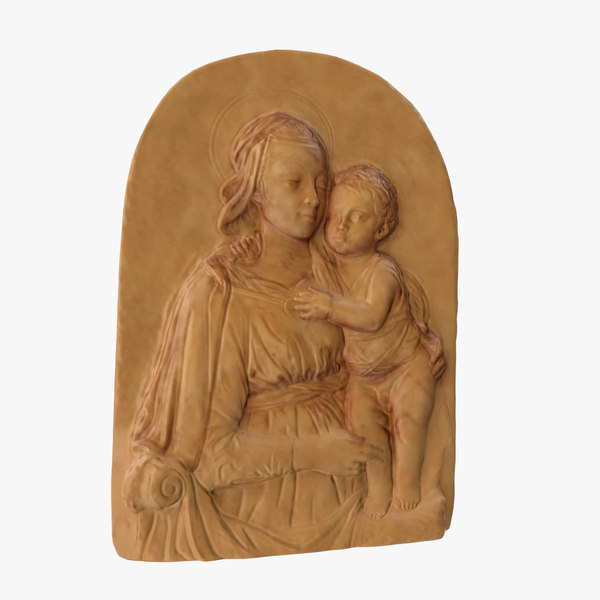 3D madonna child frieze