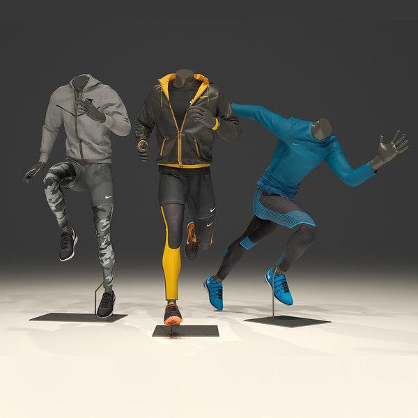 man mannequin nike pack 3 3D