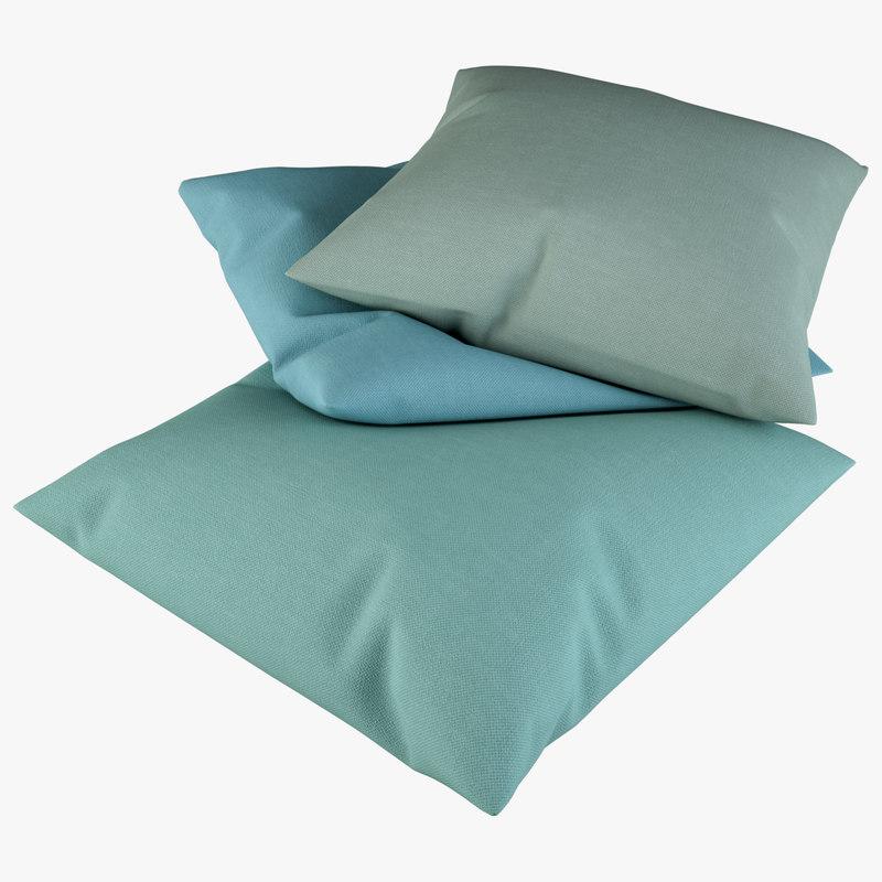 3D pillow cushion model