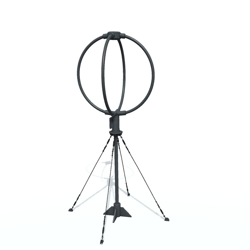 3D radio direction finder model