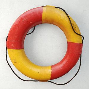 life preserver ring 3D model