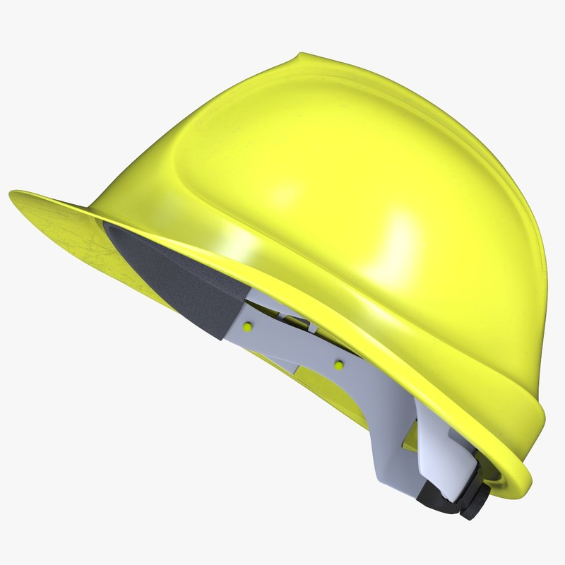 dirty construction helmet 3D
