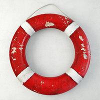 red white life preserver 3D model