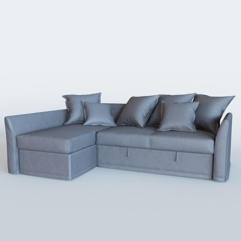 3D holmsund sofa bed chaise longue model