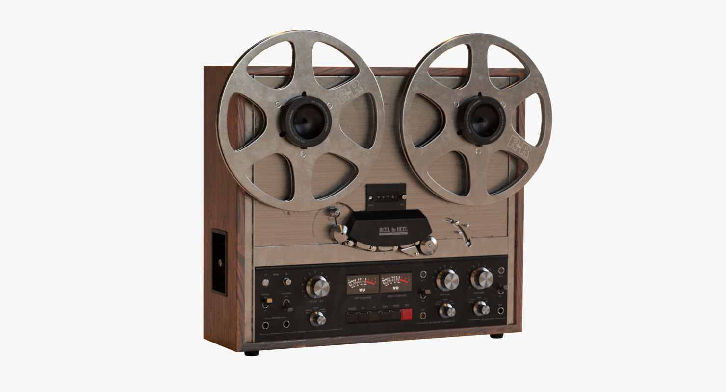reel tape recorder 3D