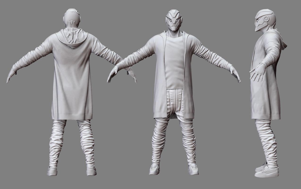 3D mech character model