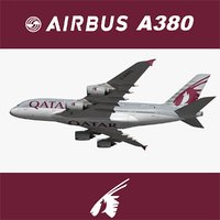 airbus qatar airways 3D model