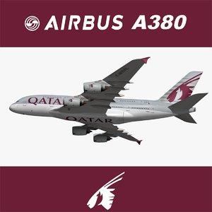 airbus qatar airways 3D model