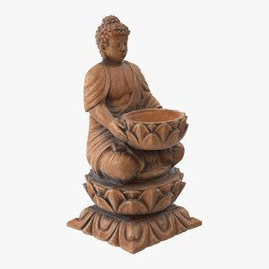 3D buddha statue - ready