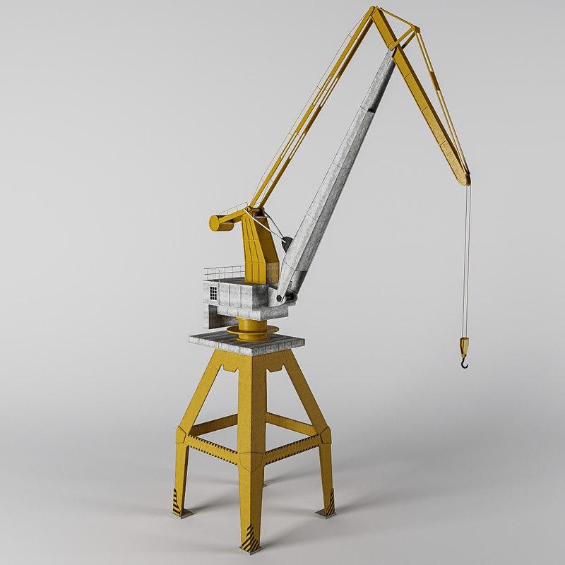 3D model crane battlefield