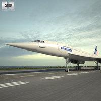 concorde aerospatiale-bac aerospatiale 3D model