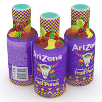 3D arizona beverage bottle