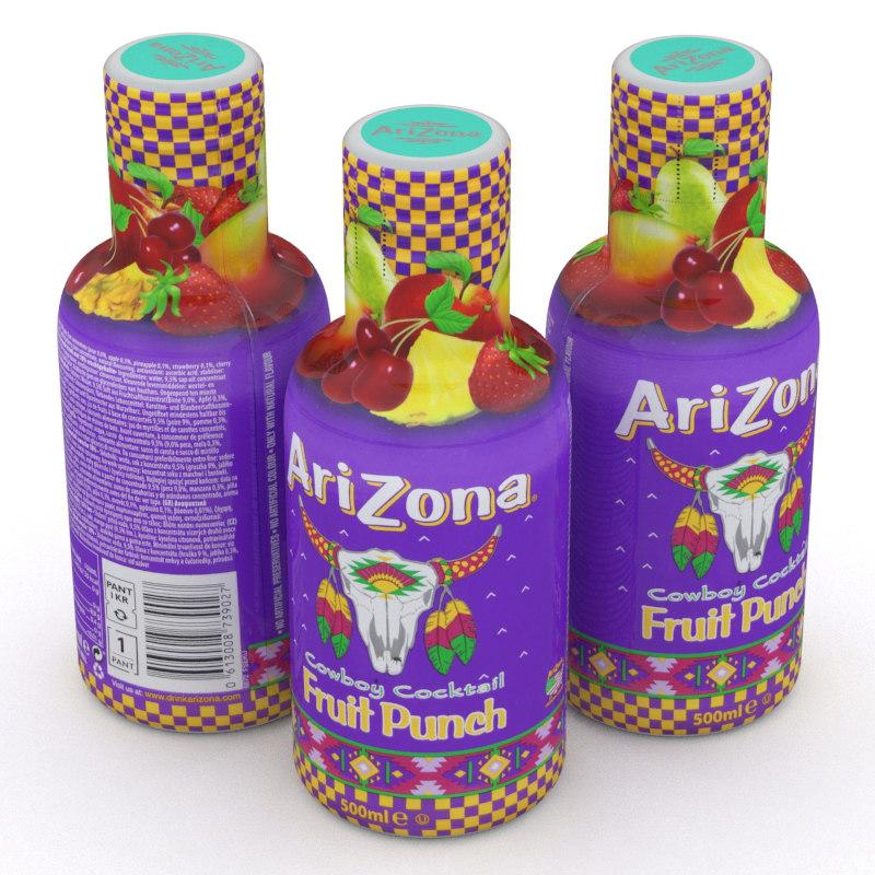 3D arizona beverage bottle
