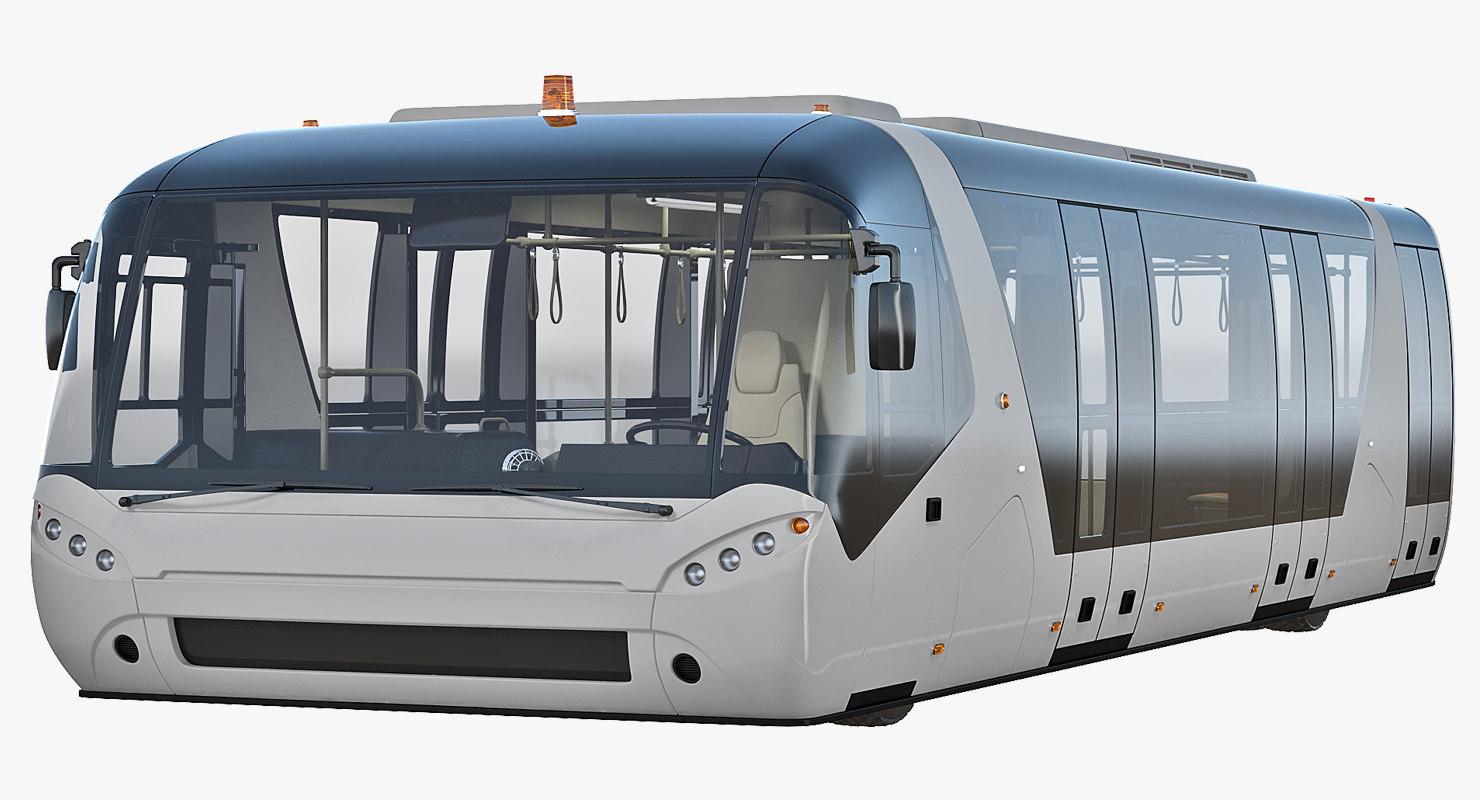 airside passenger bus 3D model