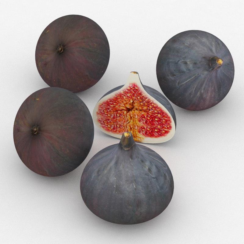 fig fruit 3D model