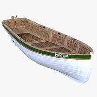 3D model realistic dinghy