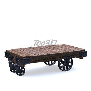 factory old wood 3D model