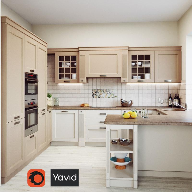 verona kitchen oven 3D