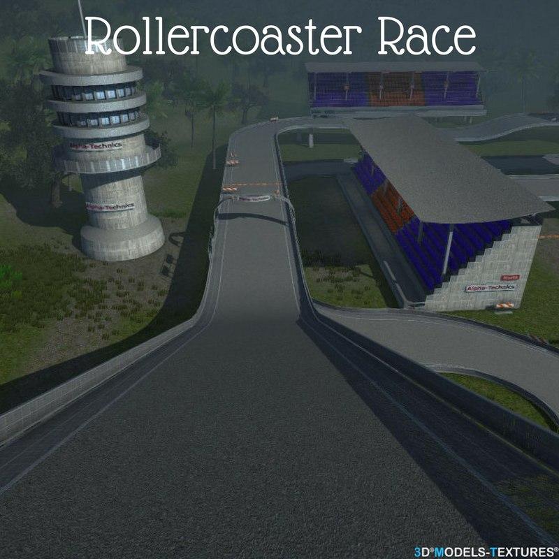 3D road race track model