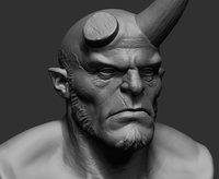 printable hellboy model
