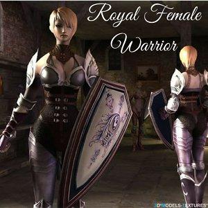 3D royal female warrior