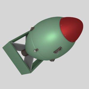 nuclear bomb 3D model