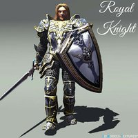 3D royal knight model