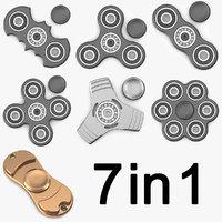 3D spinner fidget torqbar