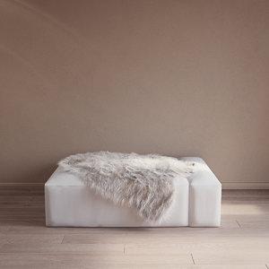 fur cow carpet model