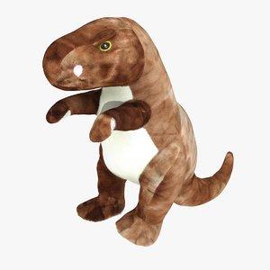 3D model stuffed animal dinosaur -