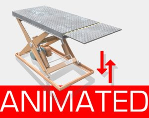 hydraulic scissor lift 3D model
