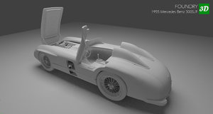 slr 1955 mercedes benz 3D