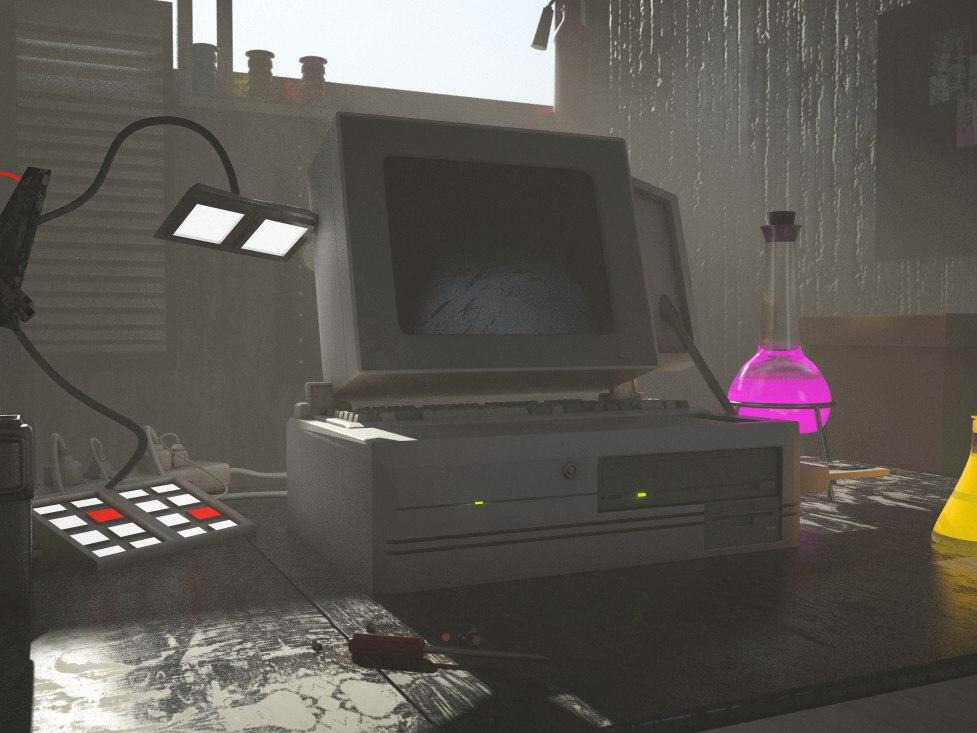 3D garage rick morty