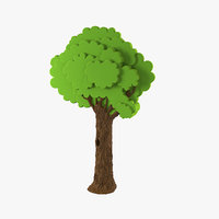 Plastic Interior Toy Big Tree