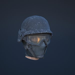 3D soldier helmet model