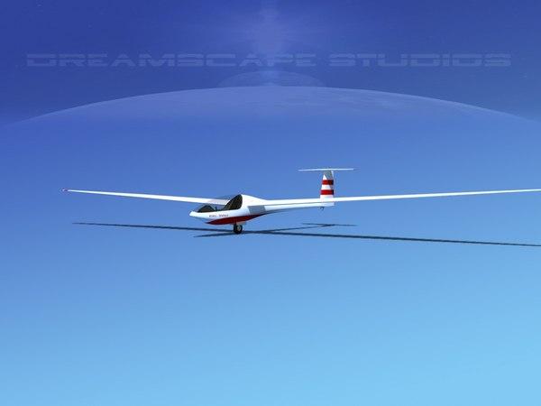dg-200 sailplane 3D model