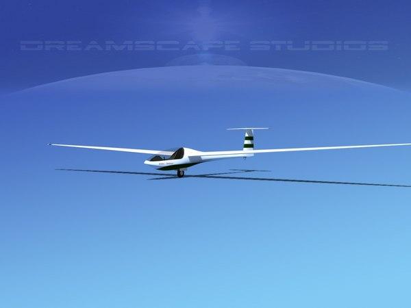 3D dg-200 sailplane model