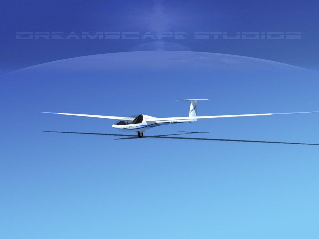 3D dg-200 sailplane