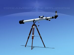 refractor telescope 3D