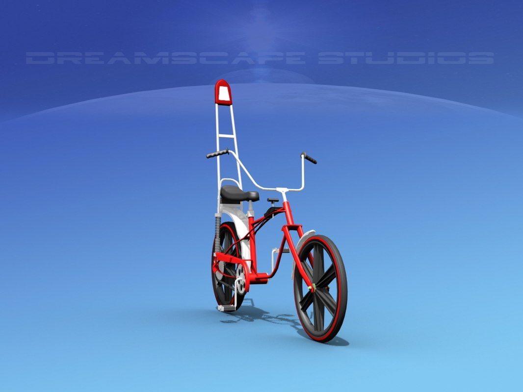 chopper style bicycles 3D model